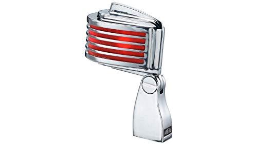HEIL Fin-B-B - Micrófono Cromado con LED Rojo