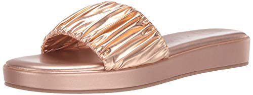 Katy Perry Women's The Lizzie Pool Slide,Rose Gold,10