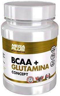 MEGA PLUS BCAA + GLUTAMINA CONCEPT - Complemento alimenticio a base de Aminoácidos y glutamina - 500G, Tropical