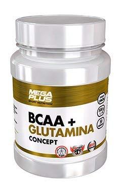 MEGA PLUS BCAA + GLUTAMINA CONCEPT - Complemento alimenticio a base de Aminoácidos y glutamina - 500G, Limón