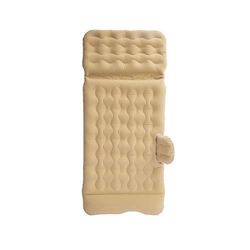 Colchones de aire Colchon Hinchable de Coche Colchón Inflable Coche Multifuncional Plegable Cama Inflable Para Asiento Trasero De Coche 2 Almohadas Sofá Hinchable ( Color : Beige , Size : 130x80cm )