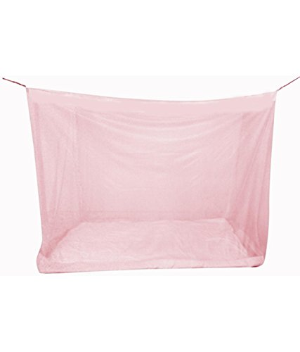 Shahji Creation Double Bed Pink 7X7Feet Best Quality Mosquito Net