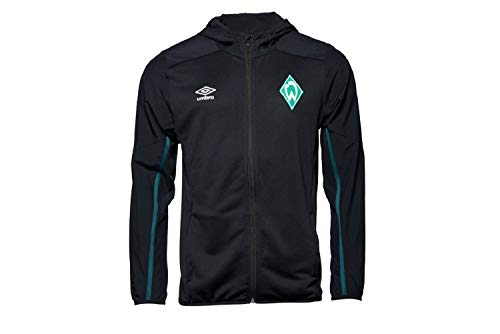 Werder Bremen Umbro Zip Hoody Sweatjacke (L, schwarz)