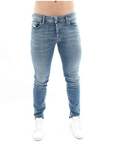 Diesel Sleenker Pantaloni Jeans in Denim Azzurro Attillati