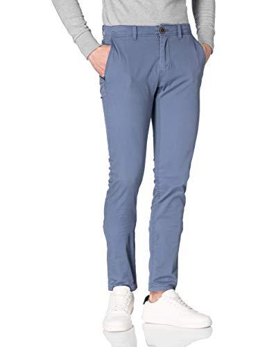 Tom Tailor 1024532 Chino Travis Slim Pantaln, Vintage Indigo Blue, 29W x 32L para Hombre