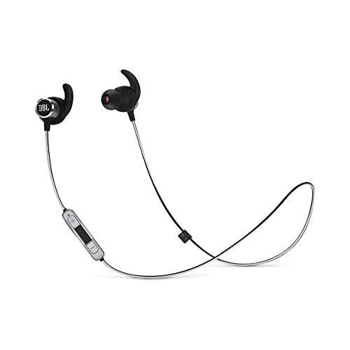 Fone de ouvido in ear bluetooth esportivo Preto JBLREFMINIBT2BLK
