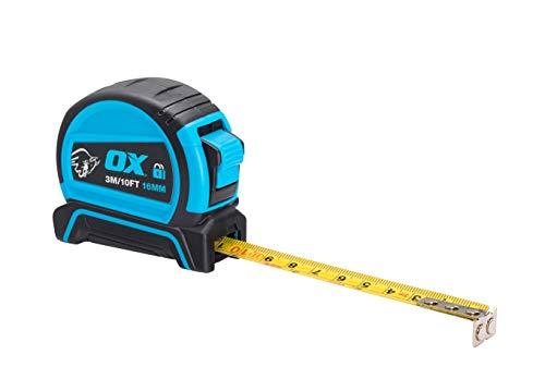 OX Tools OX-P505203 Pro Dual Auto Lock Measure-3m Tape Measure, 3