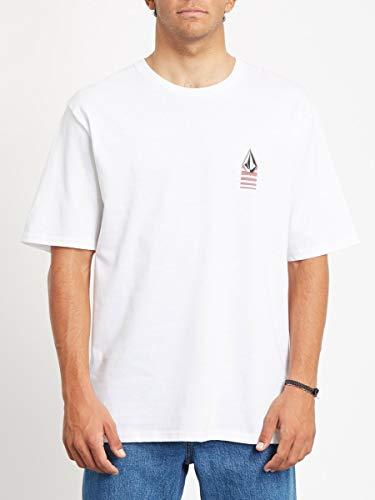 Volcom Bloxer RLX SS T-Shirt à Manches Courtes Homme, Blanc, S