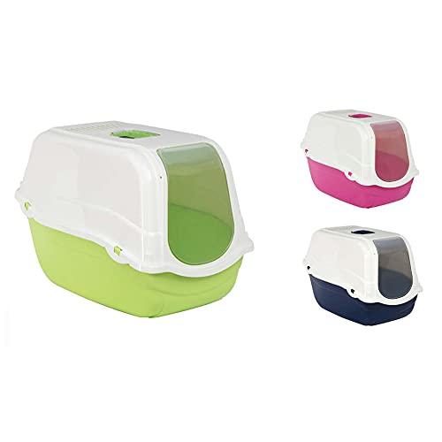 Aseo Gato, Caja de Arena con Capucha y Solapa, Plástico, Gatera , 57x39x41 CM, Colores Aleatorios (Color Aleatario)