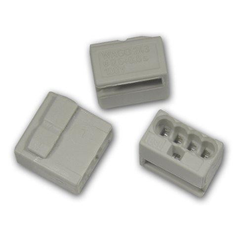 Wago Micro Verbindungsdosenklemmen lichtgrau (100 Stück)