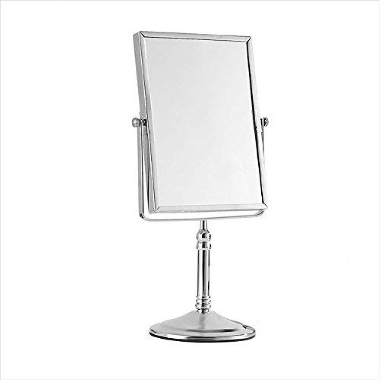 インフレーションラッシュセーター両面プッシュプル拡大鏡、回転化粧鏡、ホテルのバスルーム折りたたみ式バニティミラー、バスルーム伸縮ミラー、8インチ