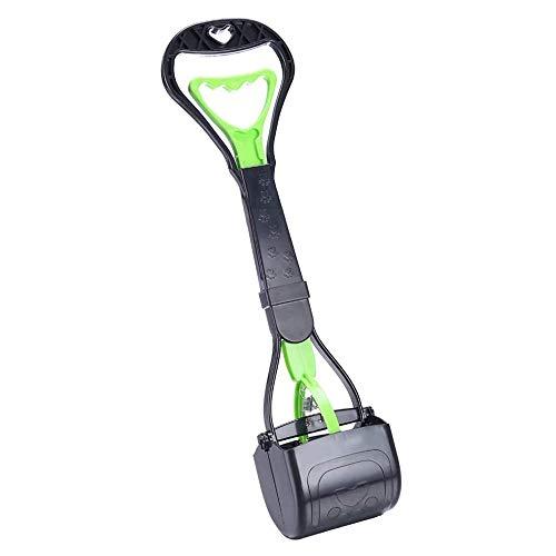 HEAPETBON 45cm Hund Jaw Pooper Scooper Tragbare Hundekotschaufel Aufnahmewerkzeug für Tierabfälle mit hochfestem Material und haltbarer Feder, geeignet für Gras und Kies, Grün