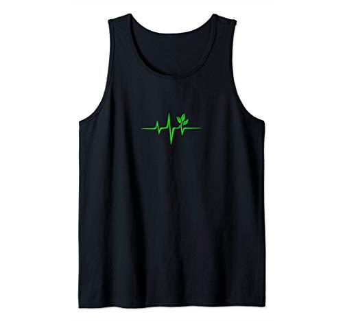Pulse, green, heartbeat, vegan, plant, nature, environment Tank Top