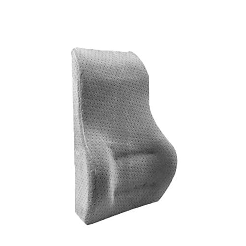 YFTGD Korean Pine Coche Lumbar Soporte de Espalda Lumbar Cojín reposacabezas Adecuado para el Asiento de la Forma del Coche de la Silla del Coche (Color Name : 1PC Gray)