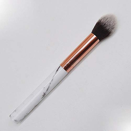 QWK Outil de Pinceau de Maquillage pour Les paupières en Poudre pour Fond de Teint Face Foundation, Blanc