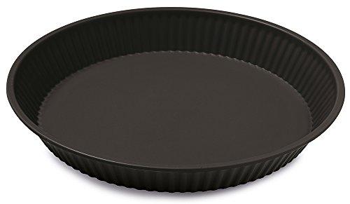 Guardini Gardenia, Moule à tarte 28cm, acier avec revêtement anti-adhérent, couleur noire