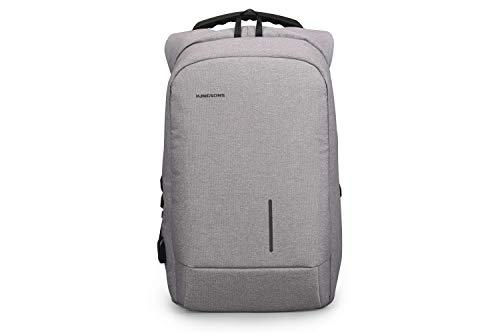 Kingsons Smart Laptop Backpack - Light Grey