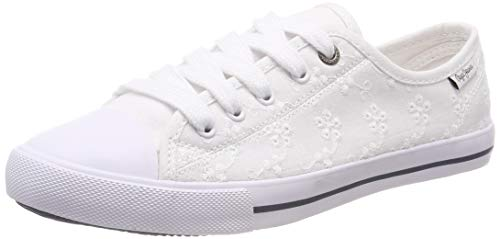 Pepe Jeans London Damen Gery Angy Sneaker, Weiß (800white 800), 38 EU