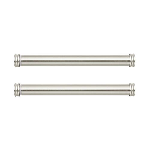 MODE Premium Collection Side Mount Curtain Rod Pair with End Caps, 12 to 20 in - Nickel