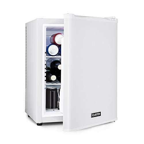 KLARSTEIN Happy Hour - minibar, mini-réfrigérateur à boissons, compression, températures : 5-15 ° C, classe d'efficacité énergétique A, silencieux: 0 dB, éclairage LED, 37 l - blanc