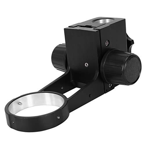 Nrpfell Microscopio EstéReo de Zoom de 76 Mm de DiáMetro Soporte de Enfoque Ajustable Soporte de Enfoque para Microscopio Trinocular Microscopio Binocular