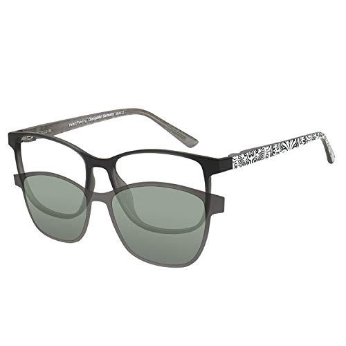Change Me Brille mit Magnet Sonnenclip mit Wechselbügel (6552-2) matt grau