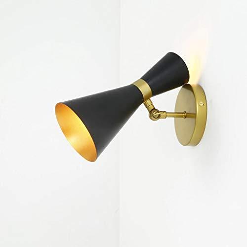 Lámparas de Pared Inicio y cocina dormitorio con lámpara de pared de la lectura de la pared de enchufe de la lámpara de noche dormitorio dormitorio de la lámpara Decoración Hogareña ( Color : Black )
