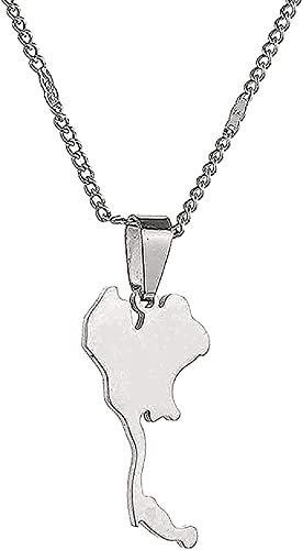 NC134 Collar Collar de Moda Collar de Tarjeta de Acero Inoxidable Collares Pendientes Tarjeta Joyería Longitud del Collar 50cm Regalos