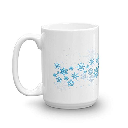 Make Your Mark Design Snowflakes Coffee & Tea Gift Mug, Holiday Essentials, Décor, for Winter Lover Men & Women (15oz)