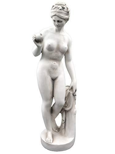 gartendekoparadies.de Wunderschöne Figur Venus von Canova mit Apfel aus Steinguss, frostfest