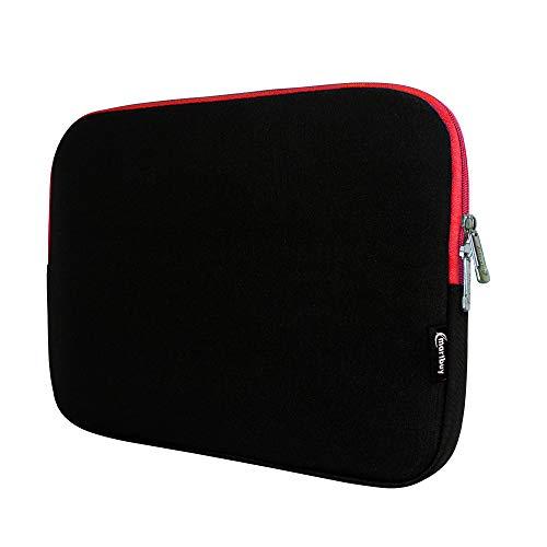 Emartbuy Lenovo MIIX 31010Inch Tablet PC Resistente al Agua Neopreno Suave Zip Case Cover Sleeve 10–11Pulgada eReader/Tablet/Netbook Black/Red Neoprene