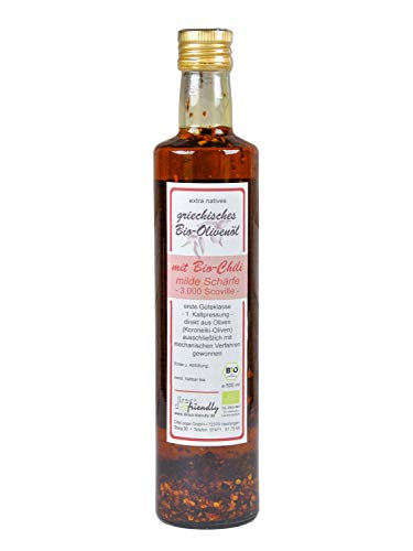 direct&friendly Bio Olivenöl Griechenland mit Bio Chili mittelscharf (500 ml)