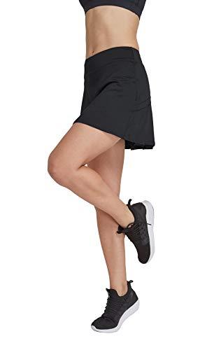 HonourSport - Falda de tenis para mujer con mallas deportivas, tallas XS - XXL Negro XXL