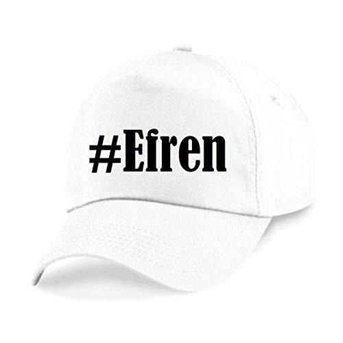 Reifen-Markt Base Cap Hashtag #Efren Größe Uni Farbe Weiss Druck Schwarz