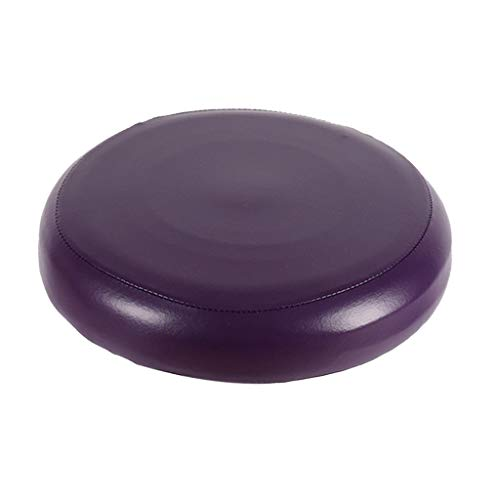1x Funda de Taburete de PU Cuero Redondoo Cojínes Bar Fiesta Cómodo - Púrpura