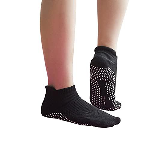WJCCY 3 Pares/Lote Hombres Mujeres antiadillas de Yoga Calcetines con Agujas bajo Corte Transpirable Anti Patinaje calcetín para Fitness Pilates Yoga Gimnasio Ballet Latino