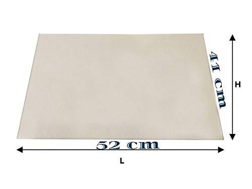 VETRO ceramico per termocamino'VULCANO 25' [41x52cm]