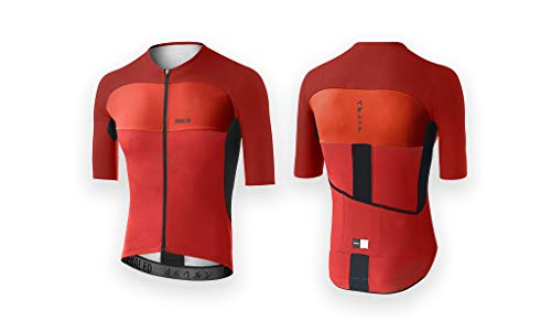Pedaled Maglietta Ciclismo Nagoya Aero Jersey (M, Rosso)