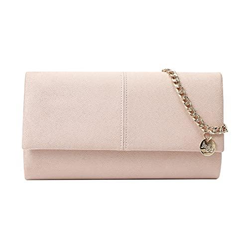 Ava&Lina Clutch Purses Handbags Women Beige Pink