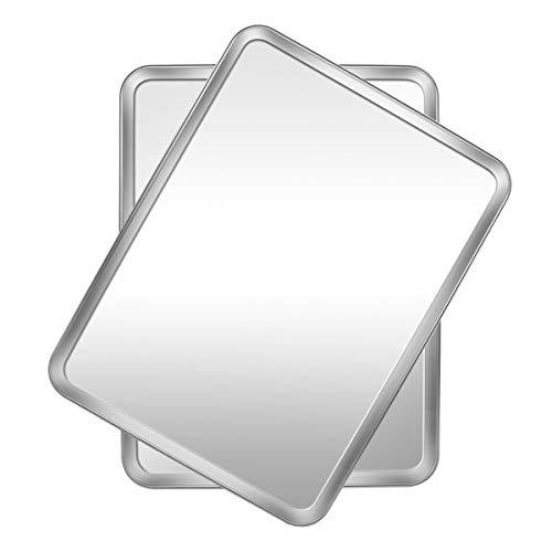 kksmile Bandeja de horno Facile de acero inoxidable, rectangular, saludable y duradero, fácil de limpiar y apto para lavavajillas, pack de 2 (40 x 30 x 2,5 cm)