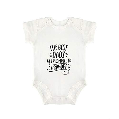 Promini Lindo Bebé Onesie Los Mejores Padres Obtener Promocionado A Abuelo Bebé Body Bebé Una Pieza Mameluco Mejor Regalo Para Bebé