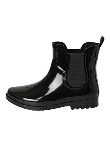 Pieces Pshella Rain Boot, Bottes & Bottines de Pluie Femme, Noir (Black Black), 39 EU