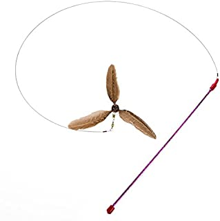 GoCat Da Purr-Peller Cat Toy, A Feather Propeller That Spins as it is Guided Through The Air