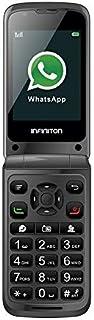 TELEFONO MOVIL F1 INFINITON (Incluye Whatsapp y Facebook Movil con Tapa Ideal para Personas Mayores Teclas Grandes Boton Emergencia)