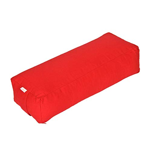 Yoga und Pilates Rechteckbolster Basic, rot