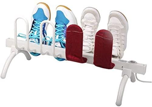 BGSFF Secador de Zapatos eléctrico portátil Secador de Zapatos y desodorizador para Tacos de fútbol, secador de Botas de pie Independiente con 8 Tubos de Secado, Calentador de pies elé