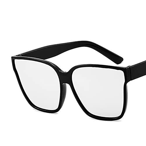 Gafas De Moda Gafas De Sol Gafas De Sol Cuadradas De Moda para Mujer, Gafas De Sol Retro con Grandes Sombras, Uv400 C6Silver