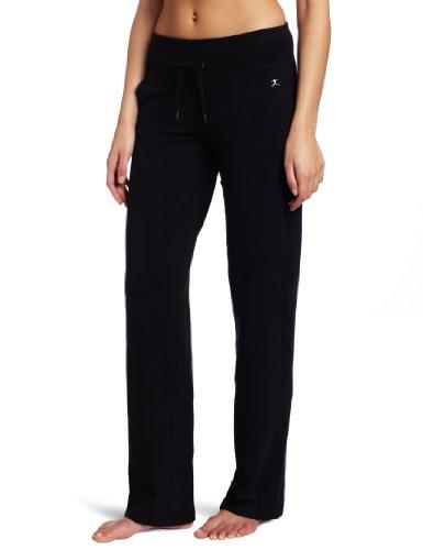 Danskin womens Straight athletic pants, Black, Large US