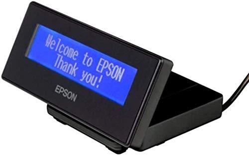 Epson DM-D30 40 Ziffern Schwarz USB 2.0 - Kundendisplays (2 Zeilen, 40 Ziffern, 8 x 16 dot, 100 cd/m², 128 x 43 mm, Blau)