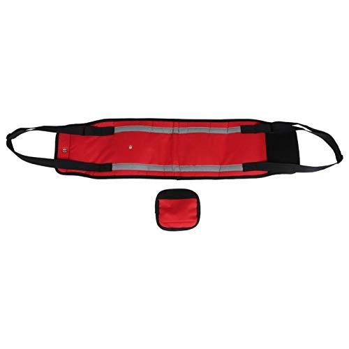 CHICIRIS Cinturón de tracción para Mascotas, Pegatinas Rojas cómodas, cinturón Auxiliar para pasear Perros, poliéster móvil para Animales, Perros nocturnos, Mascotas(L)